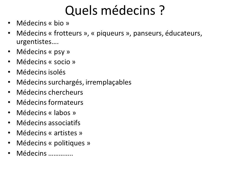 Quels médecins Médecins « bio »
