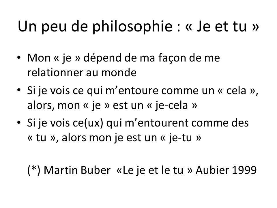 Un peu de philosophie : « Je et tu »