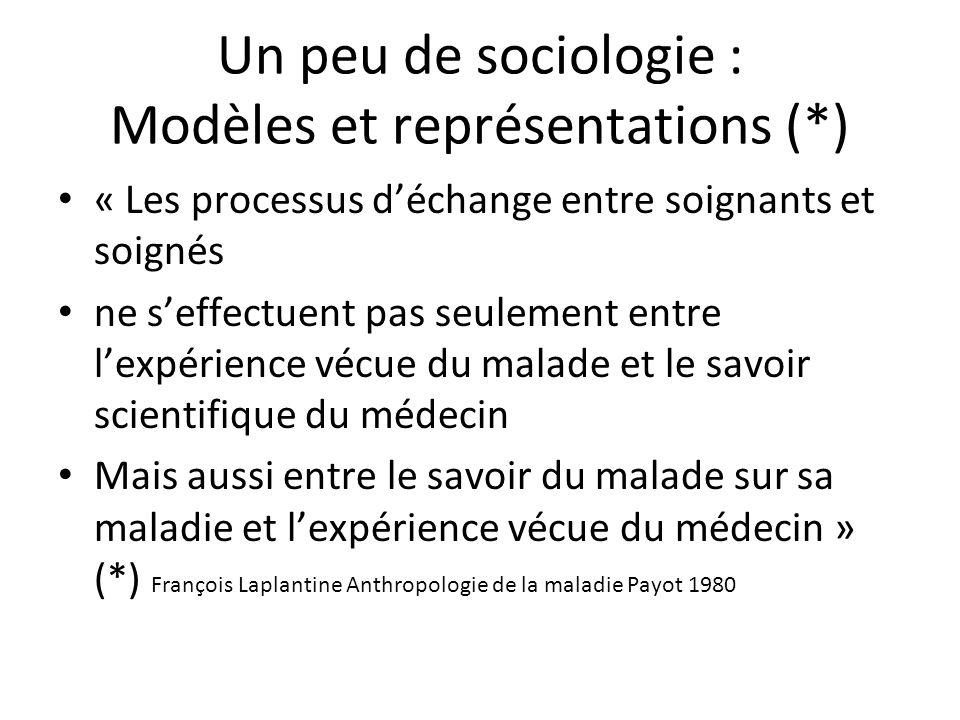 Un peu de sociologie : Modèles et représentations (*)