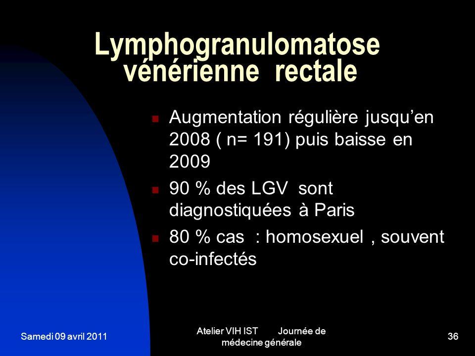 Lymphogranulomatose vénérienne rectale