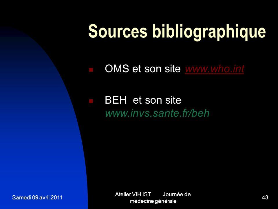Sources bibliographique