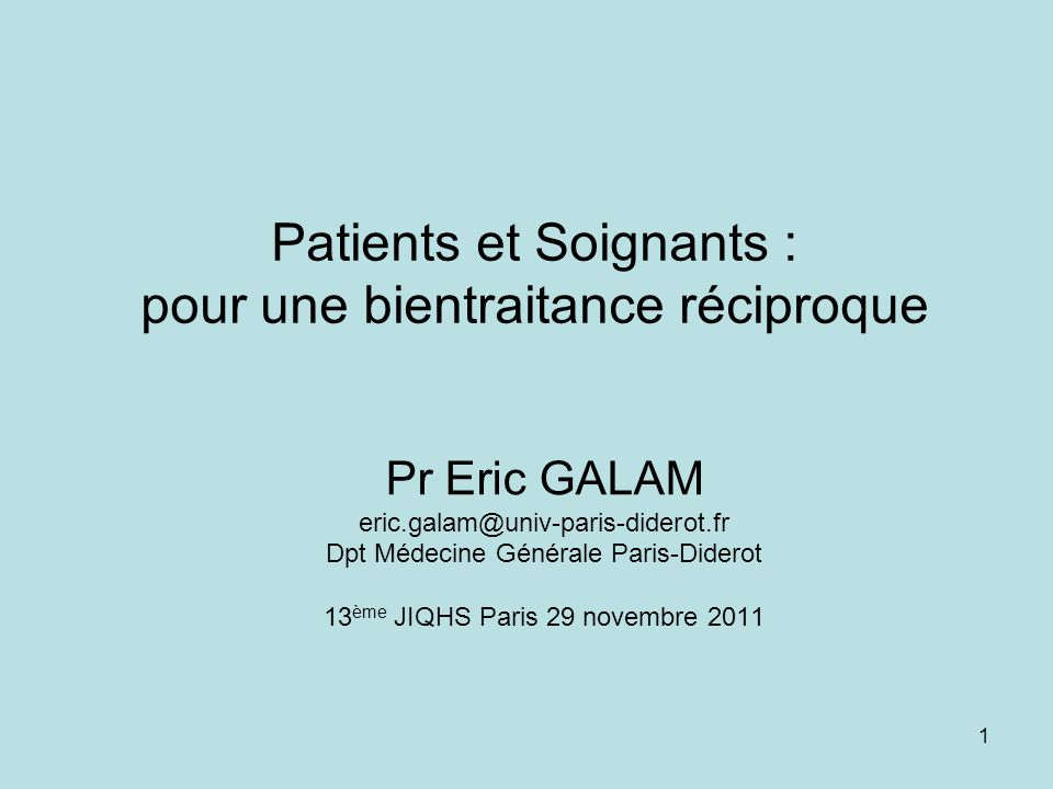 Patients et Soignants : pour une bientraitance réciproque