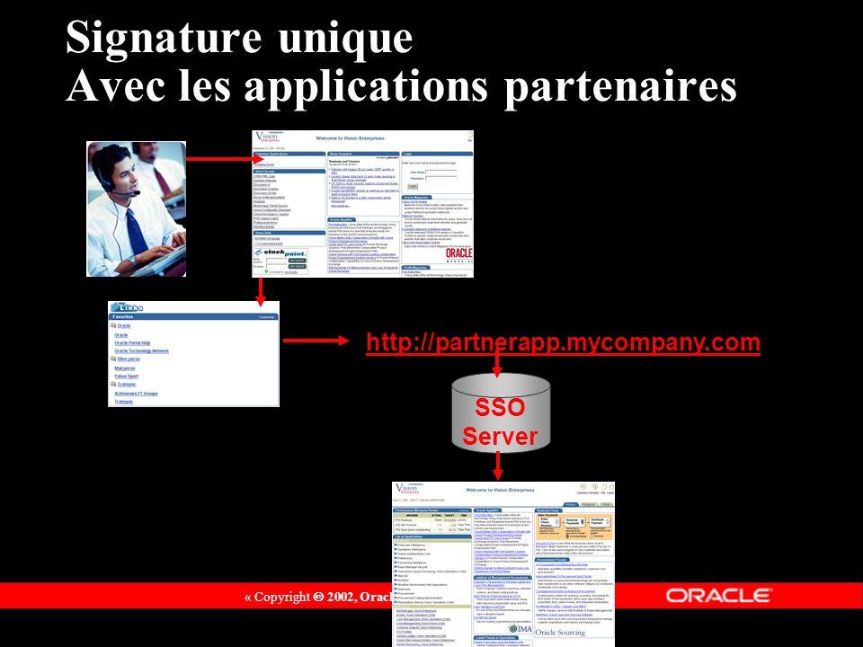 Signature unique Avec les applications partenaires
