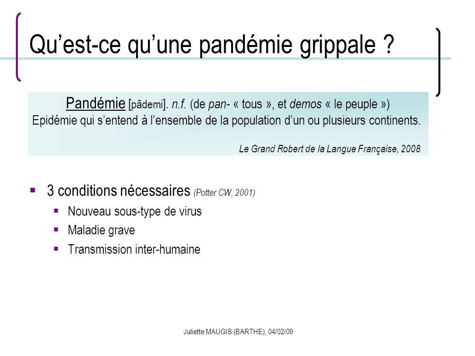 Qu'est-ce qu'une pandémie grippale