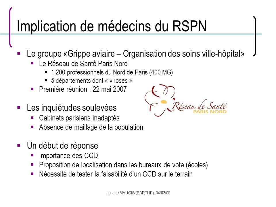 Implication de médecins du RSPN