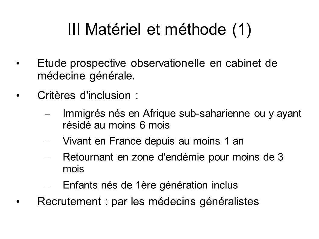 III Matériel et méthode (1)