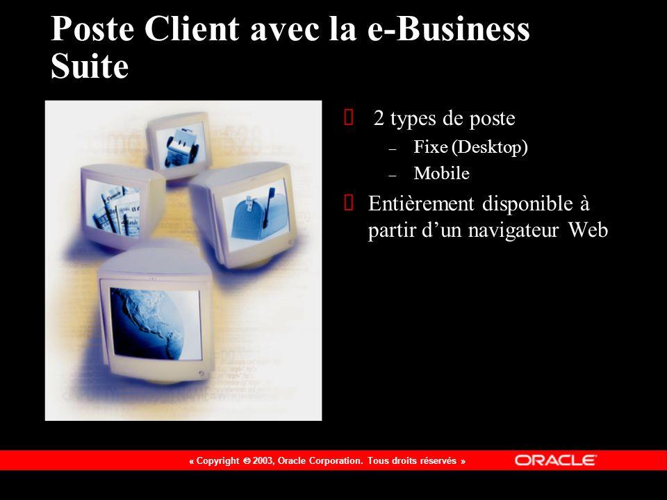 Poste Client avec la e-Business Suite