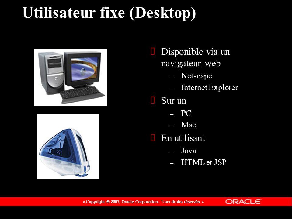 Utilisateur fixe (Desktop)