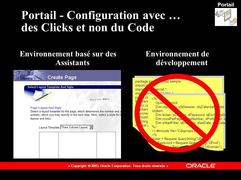 Portail - Configuration avec … des Clicks et non du Code