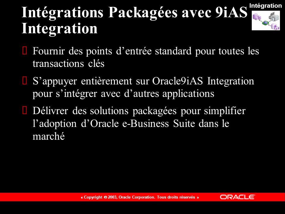 Intégrations Packagées avec 9iAS Integration