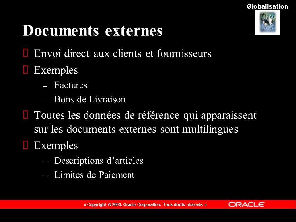 Documents externes Envoi direct aux clients et fournisseurs Exemples