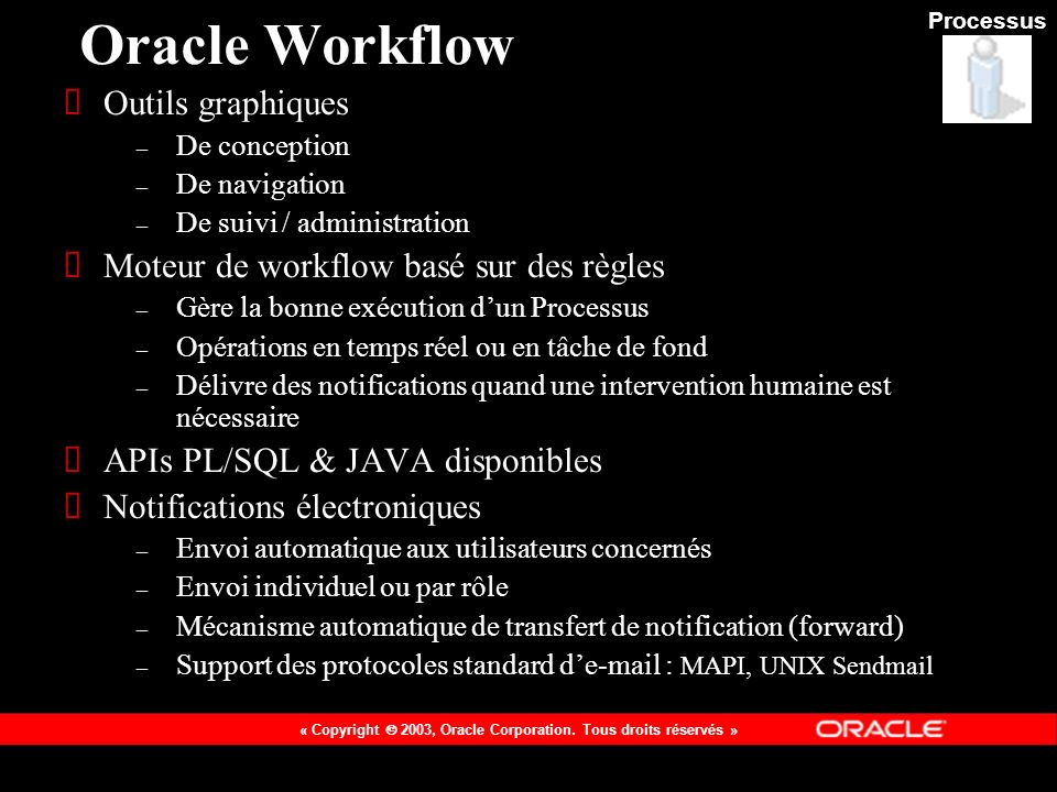 Oracle Workflow Outils graphiques
