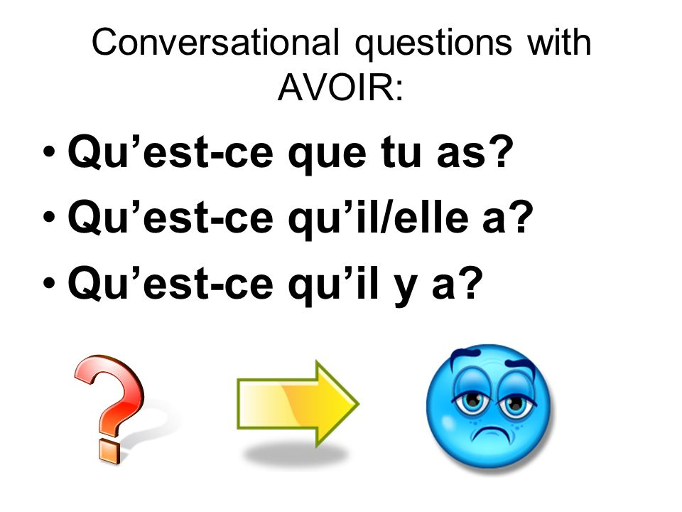 Conversational questions with AVOIR: