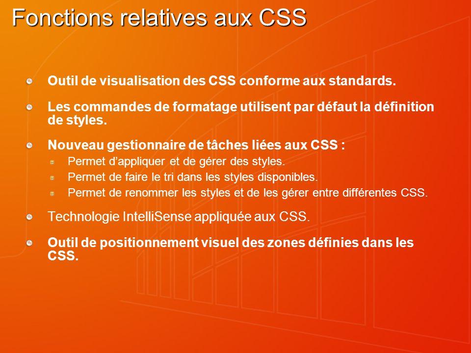 Fonctions relatives aux CSS