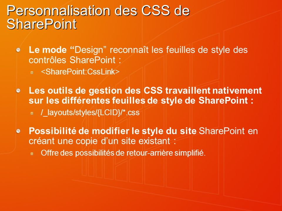 Personnalisation des CSS de SharePoint