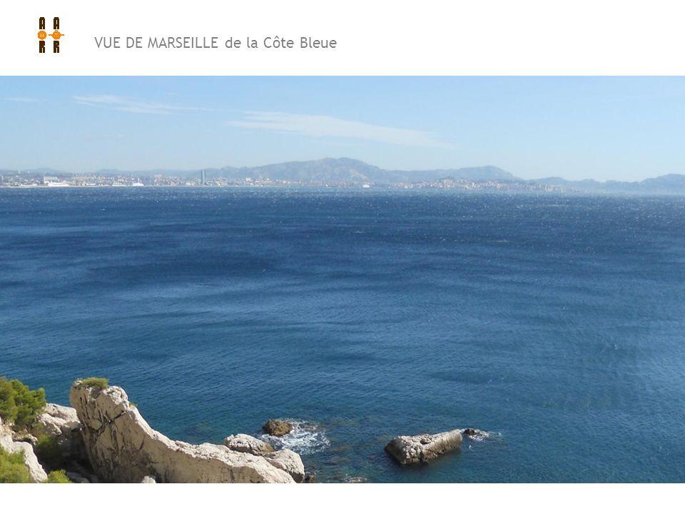 VUE DE MARSEILLE de la Côte Bleue