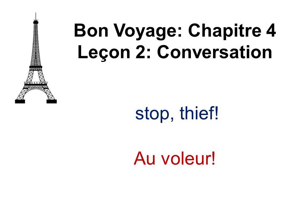 Bon Voyage: Chapitre 4 Leçon 2: Conversation stop, thief! Au voleur!