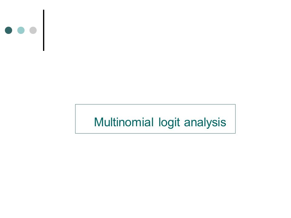 Multinomial logit analysis