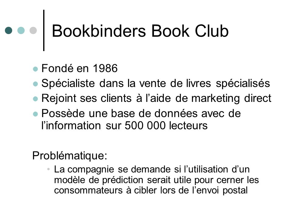 Bookbinders Book Club Fondé en 1986