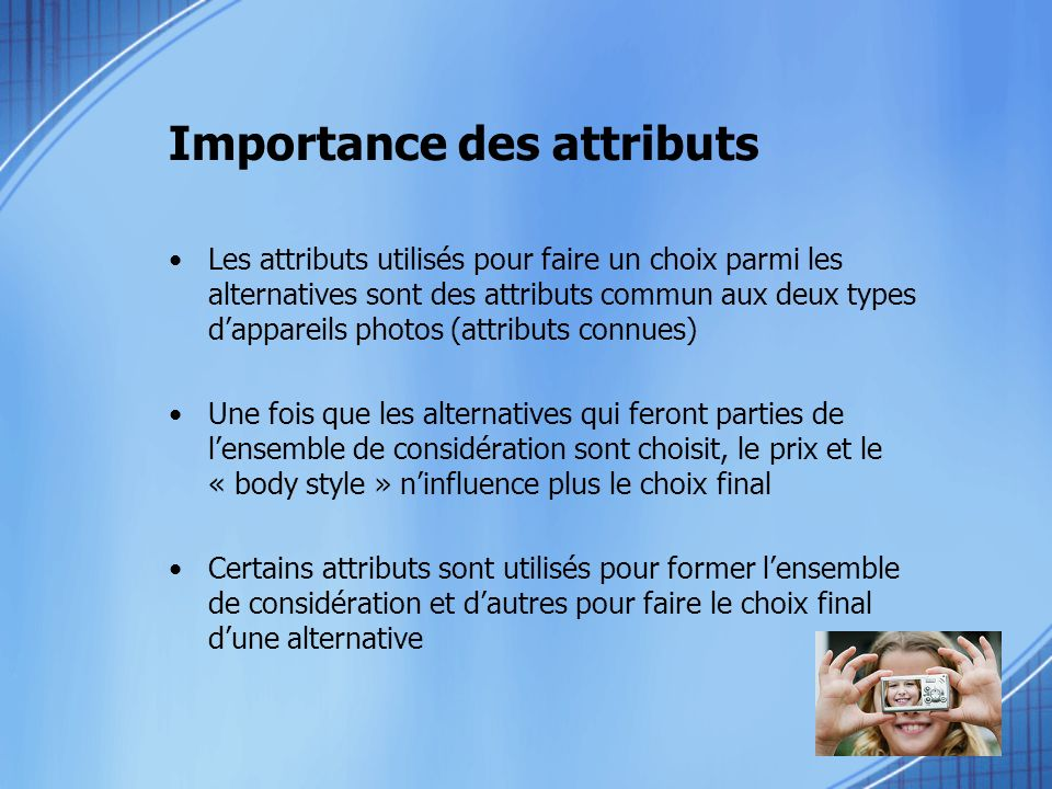 Importance des attributs