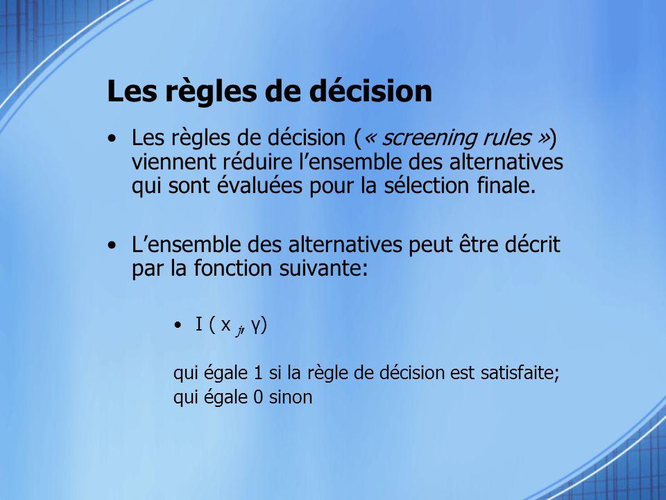 Les règles de décision