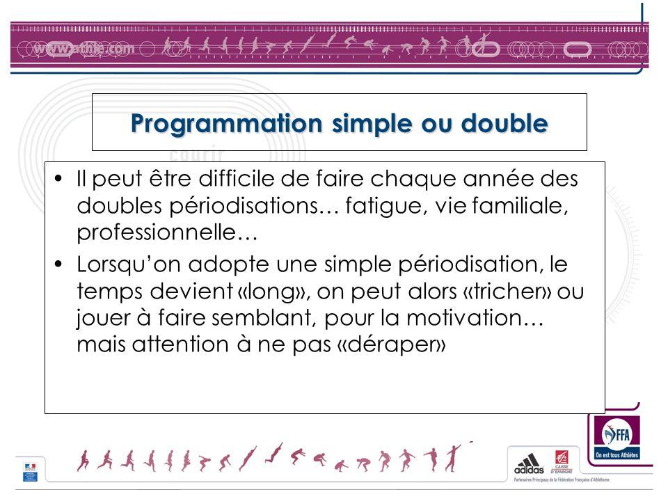 Programmation simple ou double