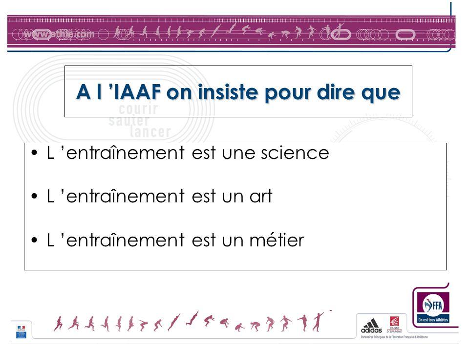 A l 'IAAF on insiste pour dire que