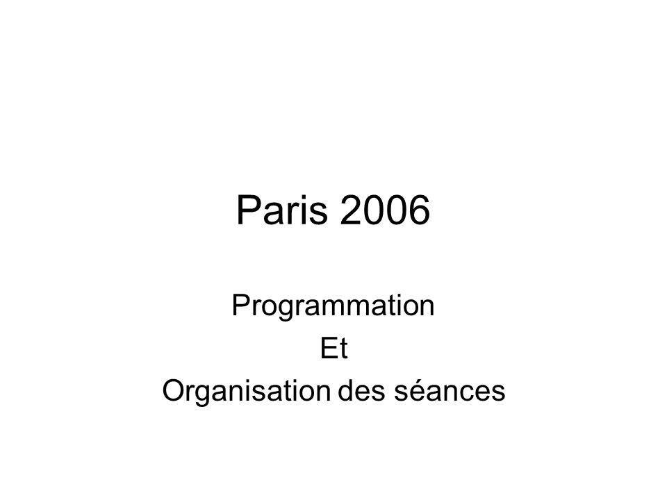 Programmation Et Organisation des séances