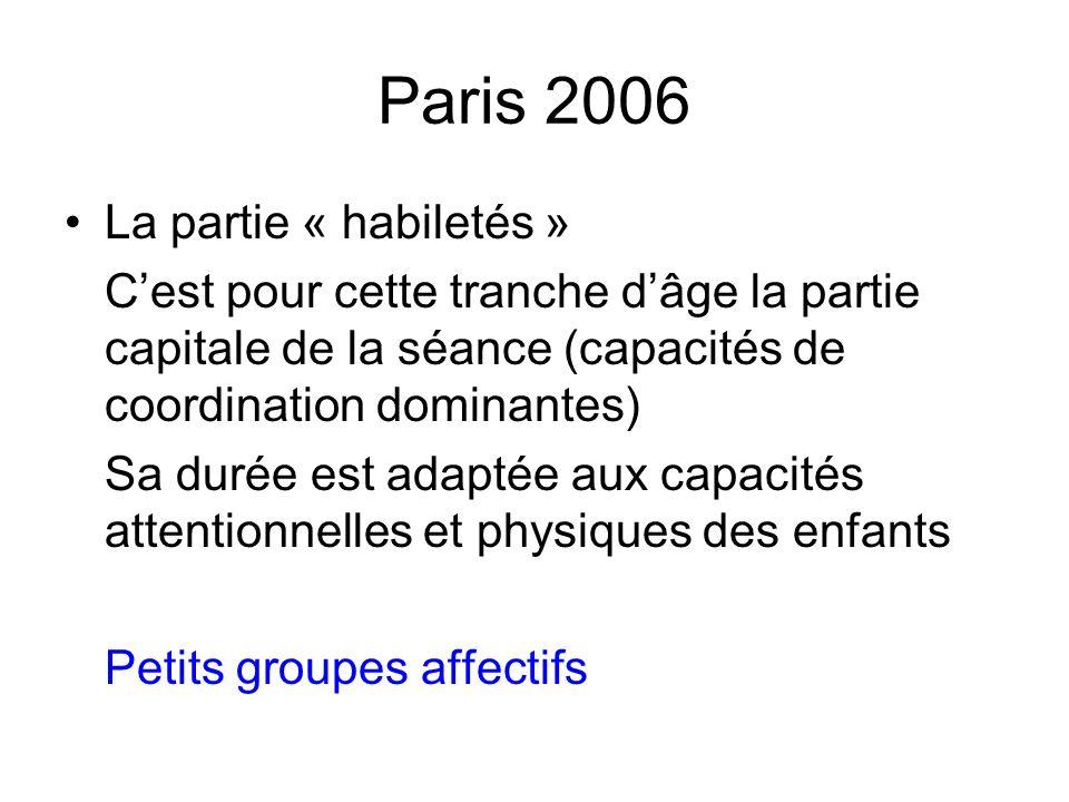 Paris 2006 La partie « habiletés »