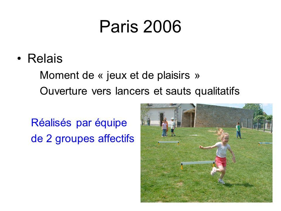 Paris 2006 Relais Moment de « jeux et de plaisirs »