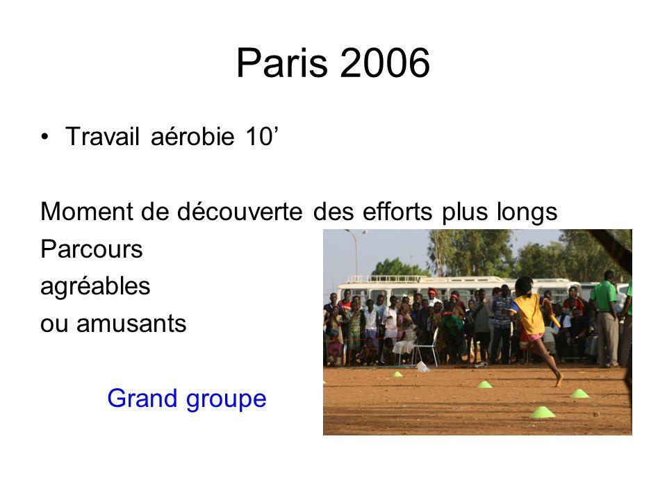 Paris 2006 Travail aérobie 10'