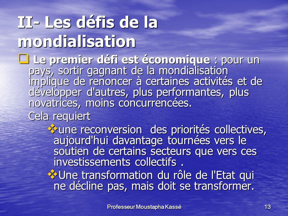 II- Les défis de la mondialisation