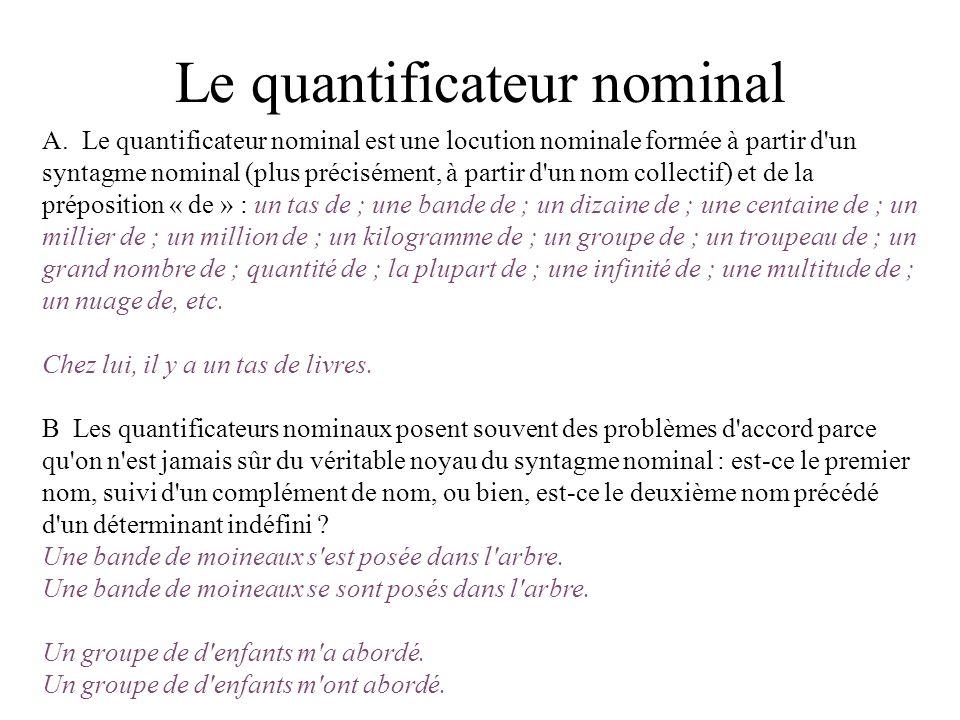 Le quantificateur nominal