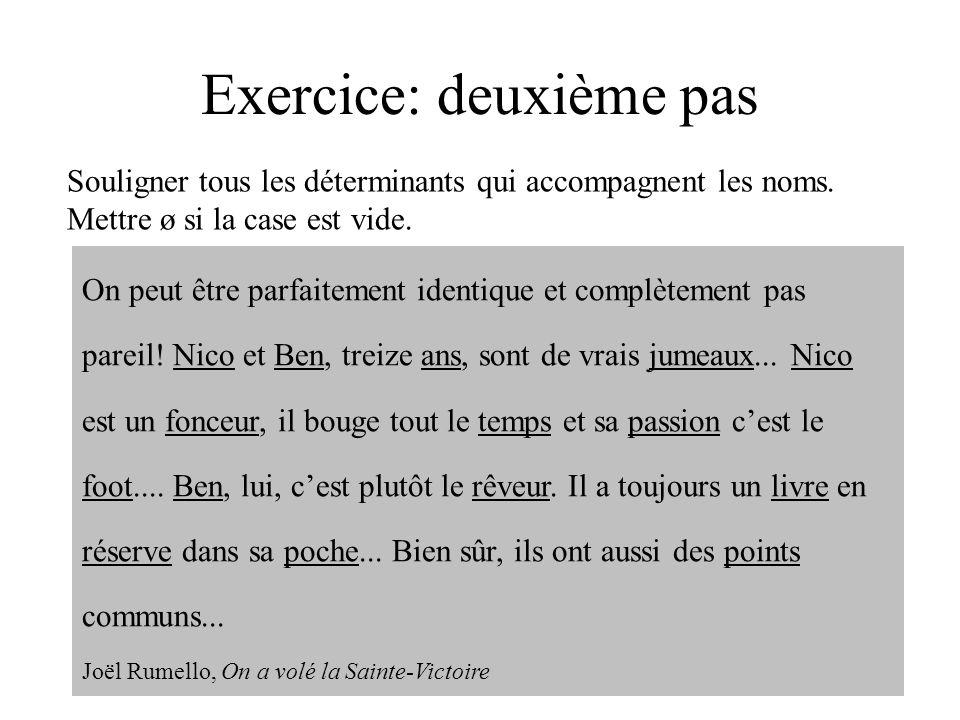 Exercice: deuxième pas