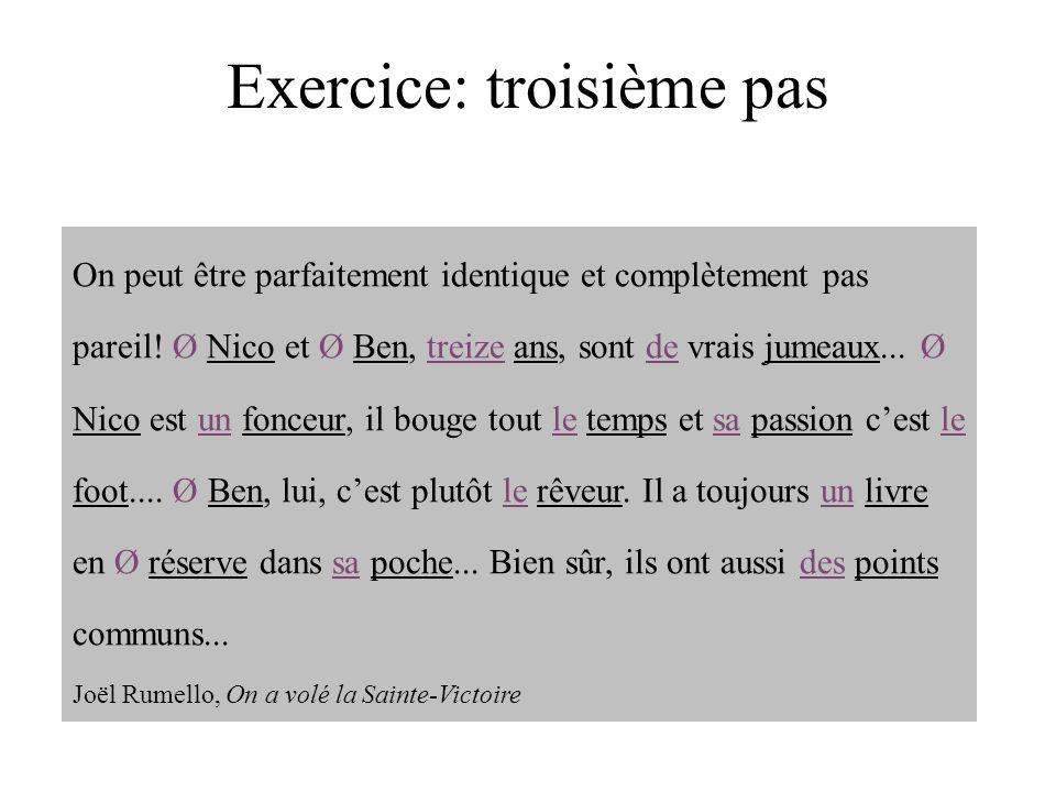 Exercice: troisième pas