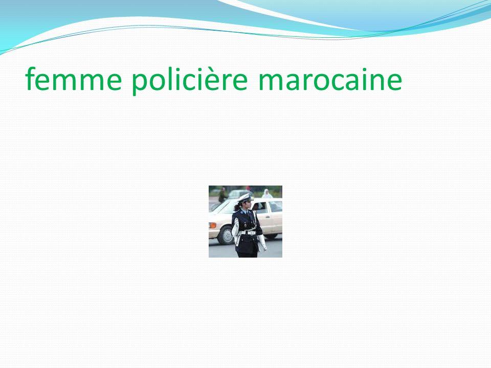 femme policière marocaine