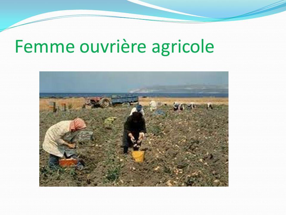 Femme ouvrière agricole