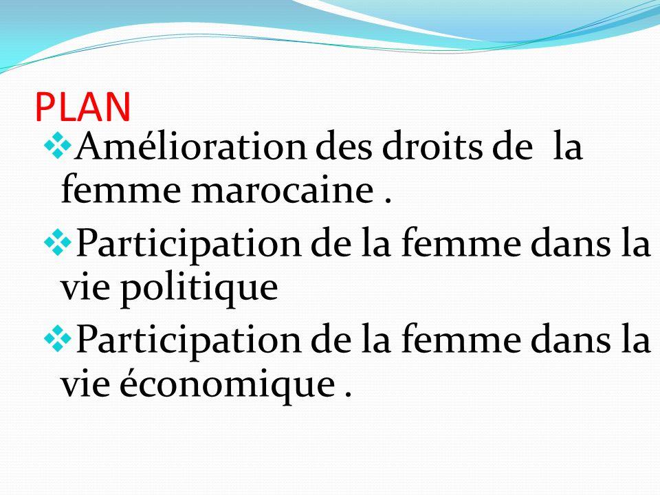 PLAN Amélioration des droits de la femme marocaine .