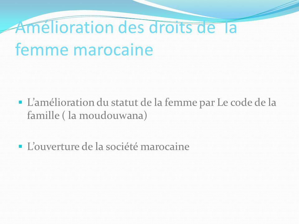Amélioration des droits de la femme marocaine