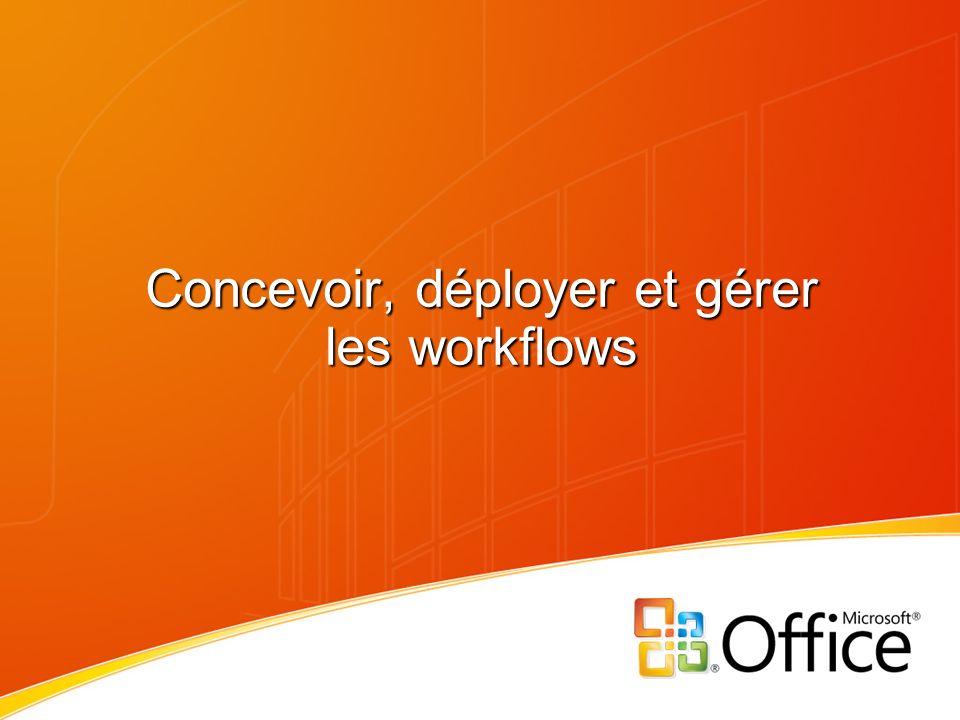 Concevoir, déployer et gérer les workflows