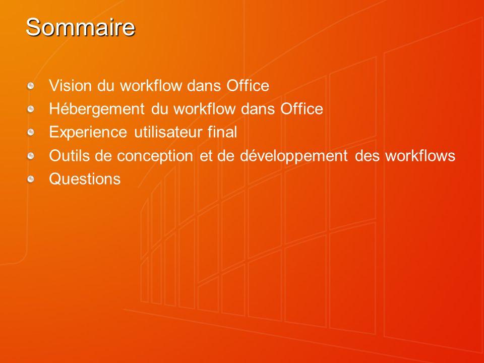 Sommaire Vision du workflow dans Office
