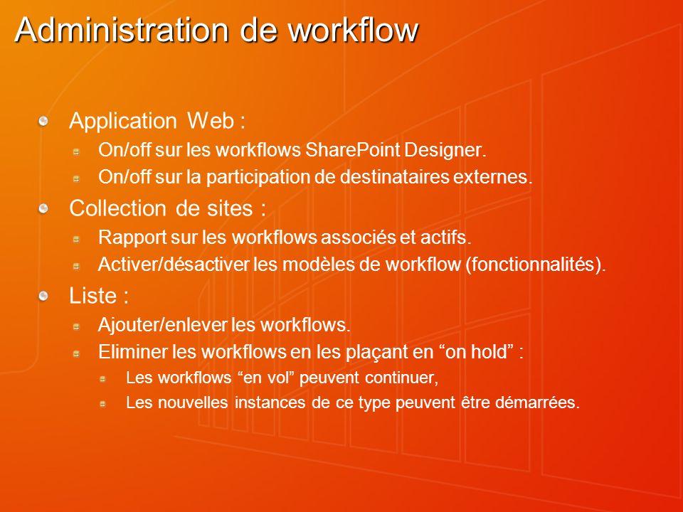 Administration de workflow