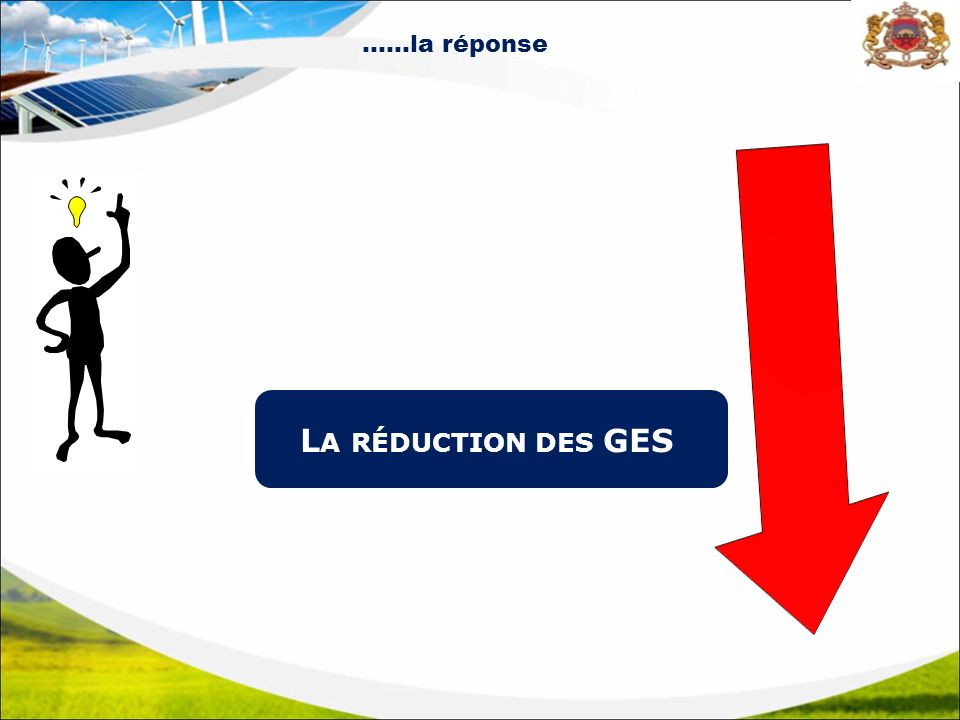 ……la réponse La réduction des GES