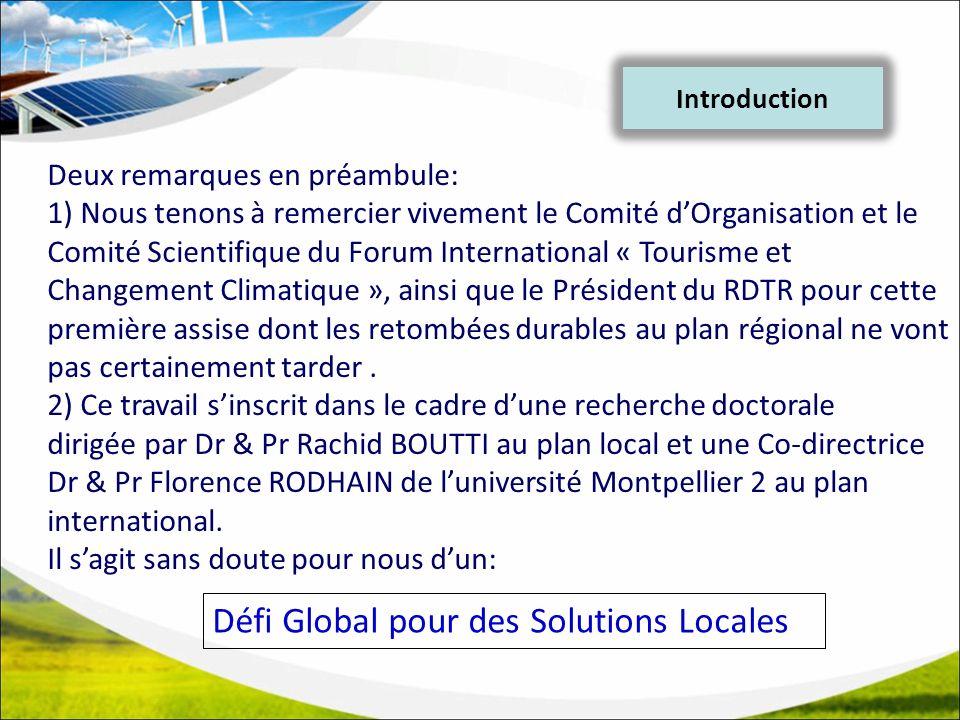Défi Global pour des Solutions Locales