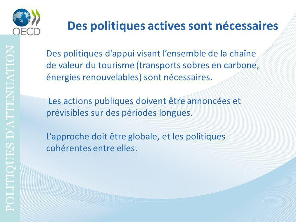 Des politiques actives sont nécessaires