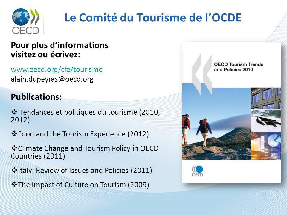 Le Comité du Tourisme de l'OCDE