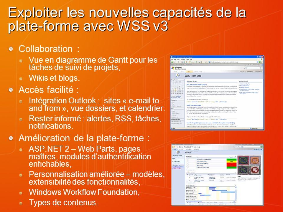 Exploiter les nouvelles capacités de la plate-forme avec WSS v3