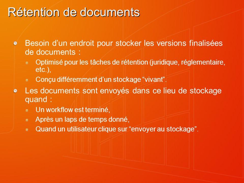 Rétention de documents
