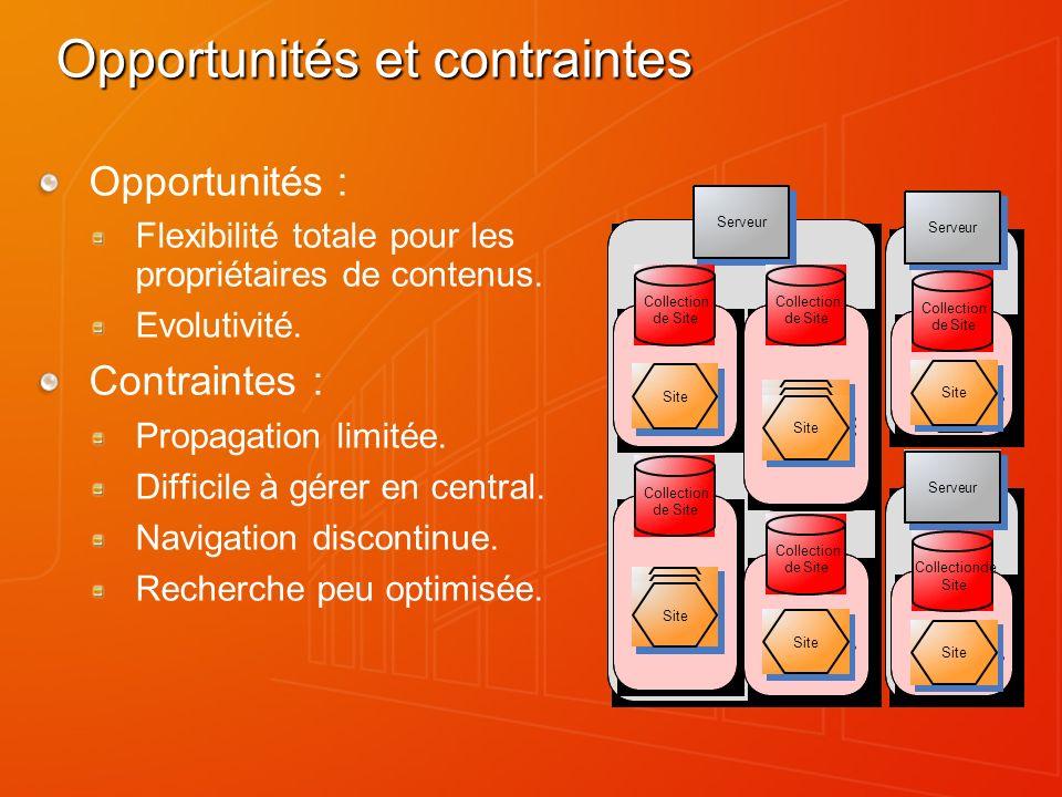 Opportunités et contraintes