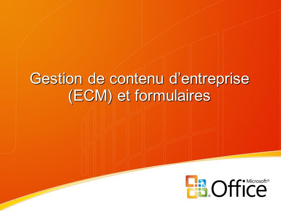 Gestion de contenu d'entreprise (ECM) et formulaires